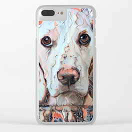 Soulful Eyes Clear iPhone Case