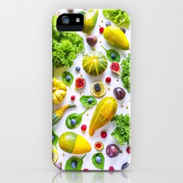 Fruits and vegetables pattern (1) iPhone Case