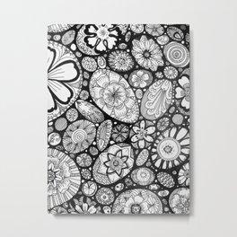 Stone doodle Metal Print
