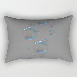 IRIDESCENT SOAP BUBBLES GREY COLOR DESIGN Rectangular Pillow