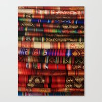 blankets Canvas Prints featuring Handmade Blankets by rhamm