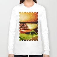 hamburger Long Sleeve T-shirts featuring Hamburger by Mauricio Togawa