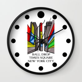 Ball Drop Times Square Wall Clock
