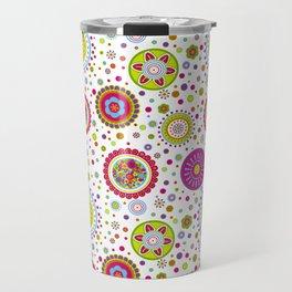 Amelia's Circles White Travel Mug