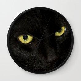 Yellow Eyes Wall Clock