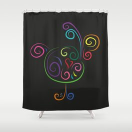 The rooster - The heart of Esperanza Shower Curtain