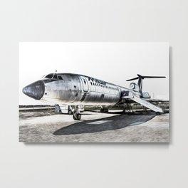 Malev Tupolev TU-154 Art Metal Print
