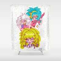 jem Shower Curtains featuring Misfits Jem and the Holograms by Lady Love