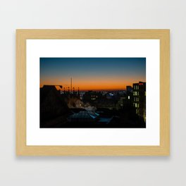 Geordie Sunrise, Newcastle UK Framed Art Print