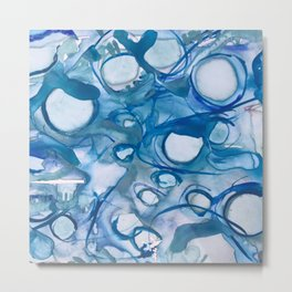 Abstract Blue Abyss Metal Print