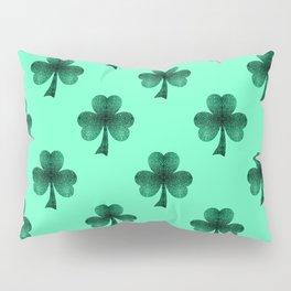 Emerald green shamrock clover sparkles Pillow Sham