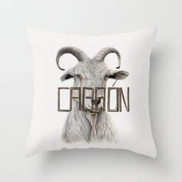 Bullied Goat Throw Pillow