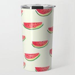 Watercolor Watermelon Travel Mug