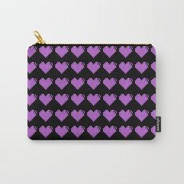 Pixel art heart - PURPLE Carry-All Pouch