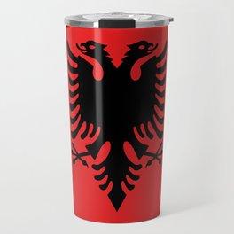 Albanian Flag - Hight Quality image Travel Mug