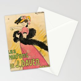 les parfums de j. daver paris. 1903 oude poster Stationery Cards