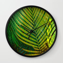 TROPICAL GREENERY LEAVES no9 Wall Clock
