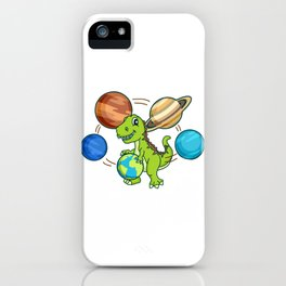 Dinosaur Gift Dino Tyrannosaurus planet iPhone Case