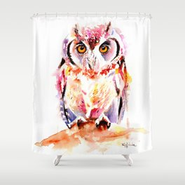 Little Owl Shower Curtain