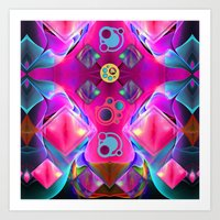 diamonds Art Prints featuring Diamonds by thea walstra
