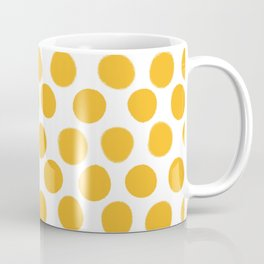Honey Gold Dots - White Coffee Mug