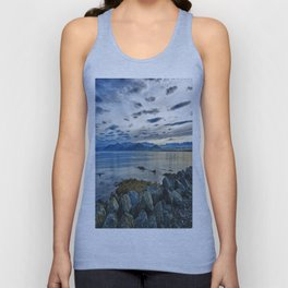 Dusk over South Bay, New Zealand Unisex Tank Top