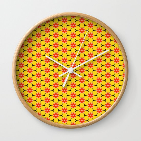 Vandenbosch Yellow Wall Clock