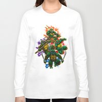 teenage mutant ninja turtles Long Sleeve T-shirts featuring Teenage Mutant Ninja Turtles by Magik Tees