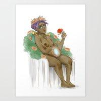 utena Art Prints featuring Mirrored Hearts by happlelujah
