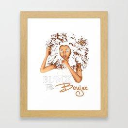 Boujee Shirt Framed Art Print