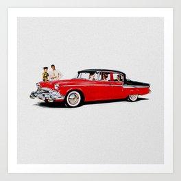 1955 Packard Studebaker Car Art Print
