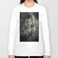 castiel Long Sleeve T-shirts featuring Castiel by Sirenphotos