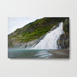 Nugget Falls, Alaska Metal Print