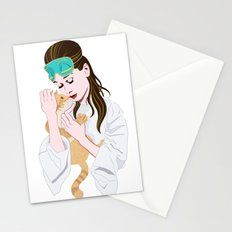 Holly Golightly's cat / Audrey Hepburn Stationery Cards