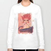 coral Long Sleeve T-shirts featuring Coral by Marti Ferrer