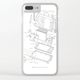 Korg VC-10 - exploded diagram Clear iPhone Case