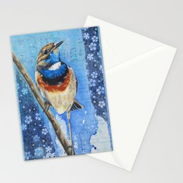 Bluethroat. Stationery Cards