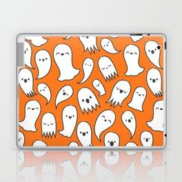 Ghosts on Orange Laptop & iPad Skin