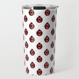 Sparkly red sparkles Ladybug pattern Travel Mug