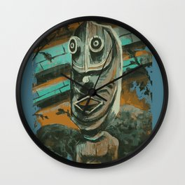 Backstage Tiki Wall Clock