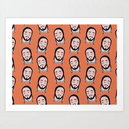 Posty Pattern Art Print