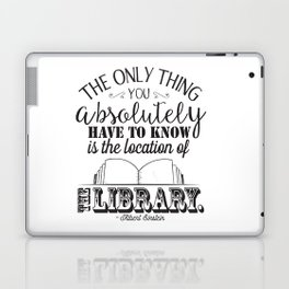 Location of the Library B&W Laptop & iPad Skin