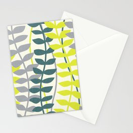 seagrass pattern - teal and lime Stationery Cards