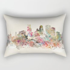minneapolis city skyline Rectangular Pillow