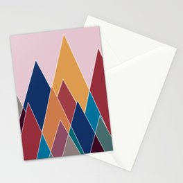 Colourful geomatric mountains Stationery Cards