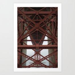 Beneath the Golden Gate Art Print