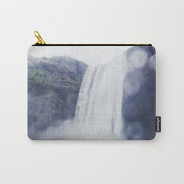 Standing at a Waterfall in Iceland Carry-All Pouch
