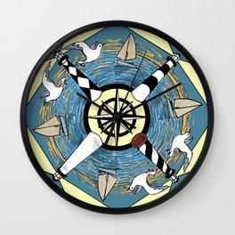 OBX Lighthouse Mandala Wall Clock