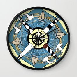 OBX Lighthouse Mandala Wall Clock