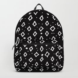 Contemporary Black & White Geometrical Shapes Pattern Backpack